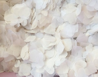 Handmade White and Ivory Paper Heart Confetti Wedding Party/classic wedding decoration