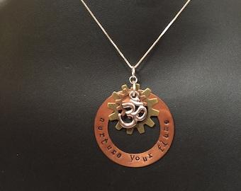 Good vibe three layered locket with chain