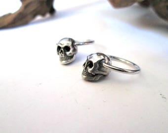 Skull septum,sugar skull earring-skull septum-1 pair