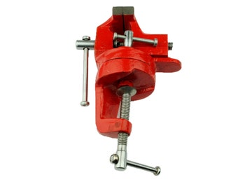 """Proops Mini Swivel Base Rotate 360 Table Vice 50mm 2"""" Jaw Work Bench Clamp. (H4063) Free UK Postage"""