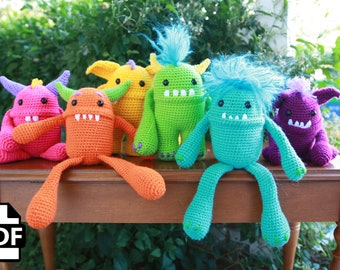 Monster Crochet Amigurumi Pattern Stuffed Animal Choose Your Own Adventure by Crafty Intentions
