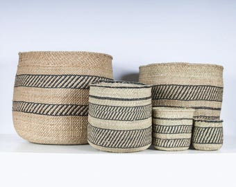 VIZURI: Black and Natural Storage Baskets