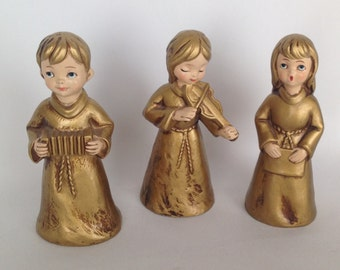 Vintage Christmas, Angel Choir, 1960s, Musicians, Set of 3, Made in Japan, Christmas Gift, Musicians, Christmas Musicians, Christmas Decor