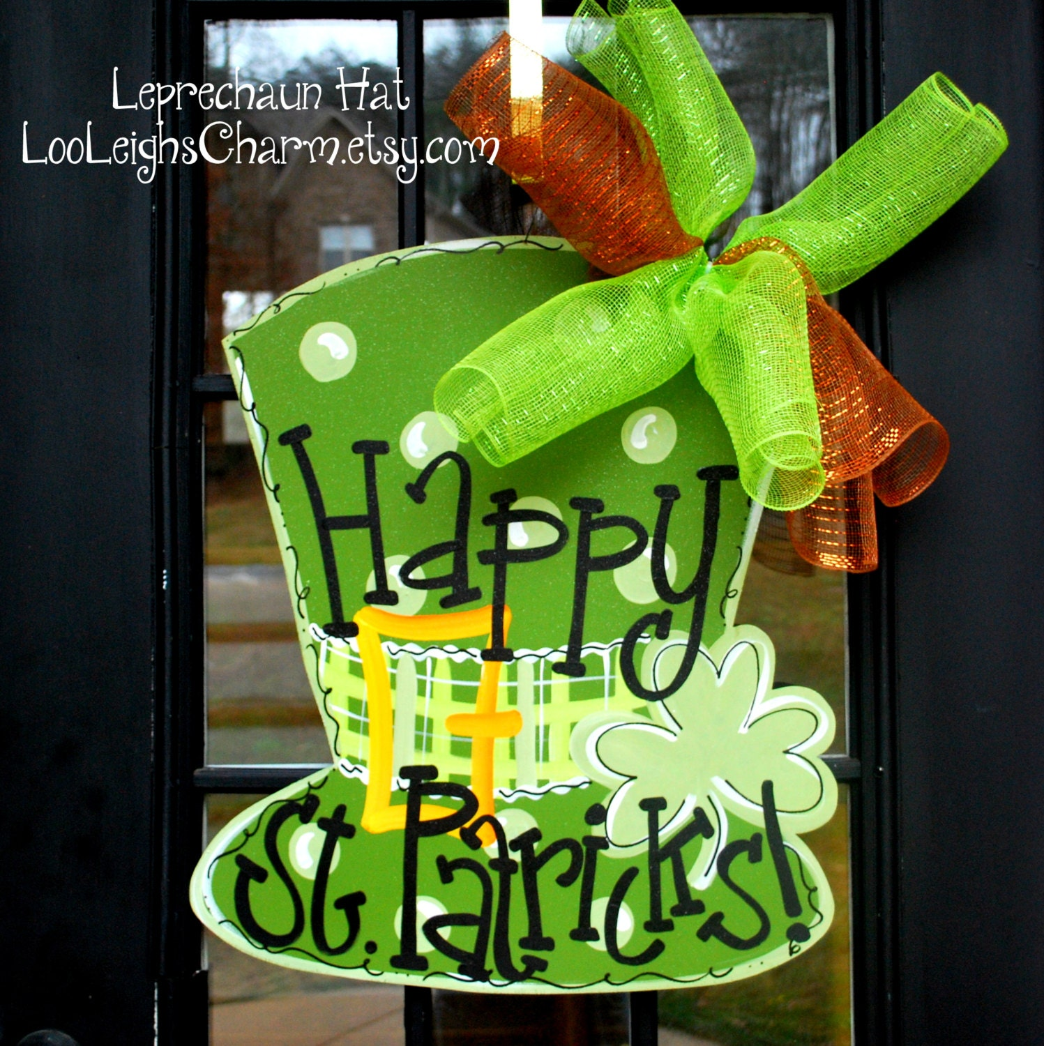 St Patricks Day Door Hanger St Patricks Day Decorations St