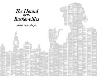 Sherlock Holmes Hound of the Baskervilles Typography Poster – DOWNLOAD