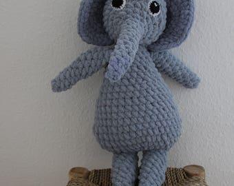 Pattern only: Frida the elephant, crochet pattern