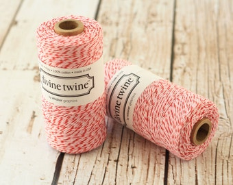 240yds SPOOL Peppermint Divine Twine 4-ply cotton bakers twine string