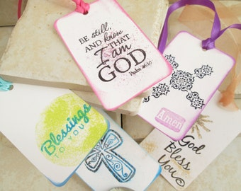 Christian gift tags 24 Faith gift tags, gift wrap tags Christian Teacher gift, Bible Verse tags, religious tags, Bible study gift