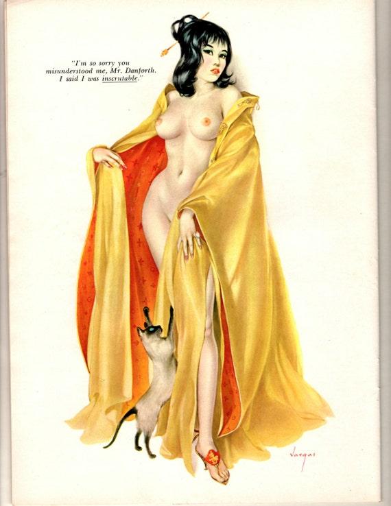 Nov 1964 Vargas pinup for playboy magazine wall art