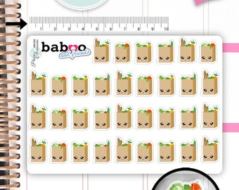 Kawaii Shopping bag Stickers Cute Shopping Stickers Purchase Stickers Planner Stickers Functional Stickers Decorative Stickers NR793