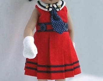 "Bitty Bethany 11"" Custom-made Outfit Sailor Dress Ensemble"
