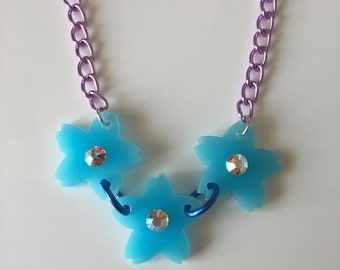 one and only!!!!! mini SAKURA Blossom laser cut necklace
