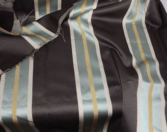 SALE fabric chocolate and duck egg blue curtains upholstery