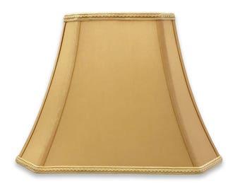 Royal Designs Rectangle Bell Cut Corner Designer Lamp Shade