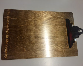 Custom Engraved Personalized Clipboard - Award or gift