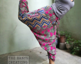 Harem pants pink