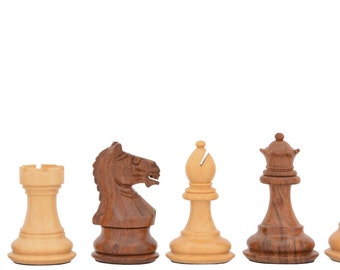 "3"" Hand carved Weighted Staunton Chess Set Shesham Wood 4 Queens. SKU: M0008"