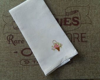 Embroidered Hand/Tea/Guest Towel #1