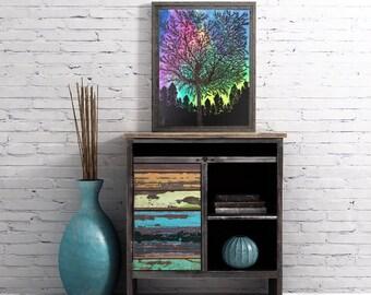 Northern Lights Prints - Aurora Borealis Prints - Art  Prints - Glossy Prints -Original Art Prints - Painting Prints