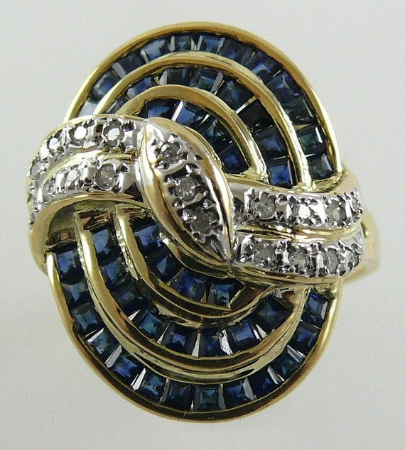 Sapphire 2.03ct Ring 14k Yellow Gold and Diamonds 0.17ct