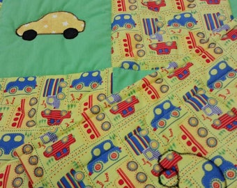 car and truck baby quilt