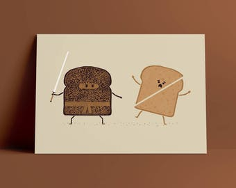 Ninja Toast A4 Art Print
