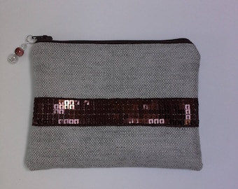 Wallet cotton decorated with a Ribbon with sequins