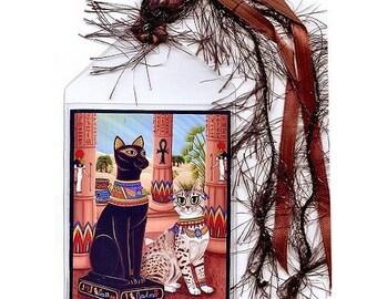 Bast Cat Bookmark Bastet Cat Statue Temple Goddess Egyptian Mau Cat Bookmarker Egypt Fantasy Cat Art Mini Bookmark Cat Lovers Gift