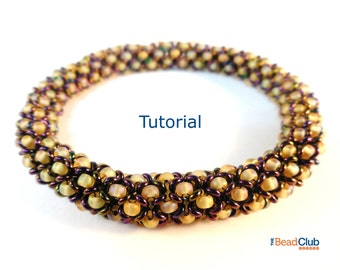 Seed Bead Patterns - Beaded Bracelet Patterns - Beading Tutorials and Patterns - Beadweaving Tutorial - Beaded Bangle - Chenille Bangle