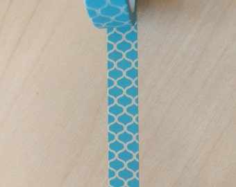 Turquoise geometric pattern washi sample 24""