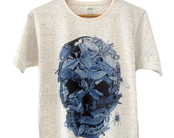 T-shirt • INSECTS skull memento mori (cream) - Collection limited-