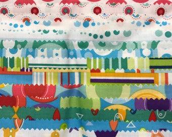 Snorkle Fat Quarter bundle by Cosmo Cricket OOP HTF - destash quilt fabric