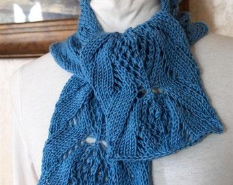 Dahlia PDF Hand Knitting Scarf Pattern