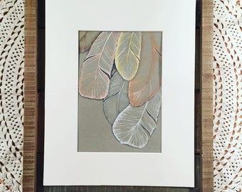Original artwork, pen & ink feather illustration