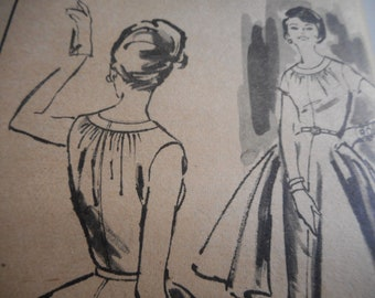 Vintage 1950's Advance 9440 Dress Sewing Pattern Size 16
