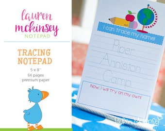Personalized Tracing Notepad for Kids. Tracing Notepad. Learning Notepad.
