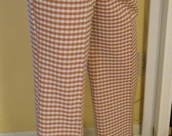 Vintage 70's Houndstooth Flared Pant // Ships Worldwide-Convo For Quote
