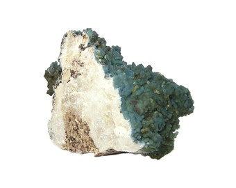 Rare Blue Plumbogummite with a touch of Pyromorphite Botryoidal Crystalline Cluster, Mineral Specimen from China for the expert collector