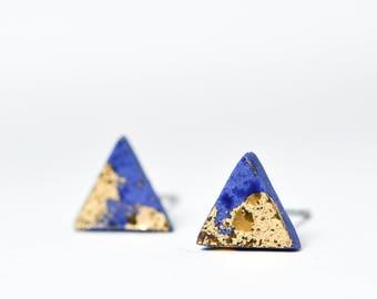 Blaue Porzellan Ohrringe, Ohrringe, Keramik und Keramik,, Porzellanschmuck, Herren Ohrstecker, Ohrringe, Ohrringe Keramik, Keramik