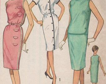 Bust 34-1960's Misses' Dress Simplicity 4470 Size 14