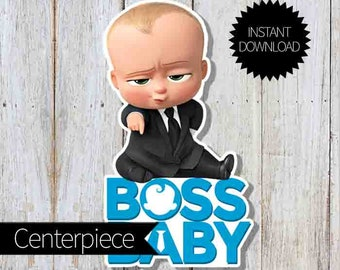 Boss Baby Birthday Party Printable Folding Favor Tags Instant