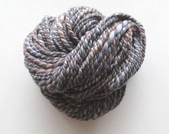 Hand Spun 97 yards, Corriedale and Merino Wool Yarn, Bulky 2 ply 7.1 oz