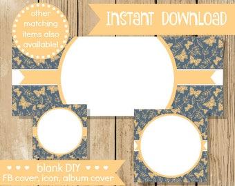 Diy fb shop set etsy blank diy facebook set beige steel butterfly do it yourself blank facebook cover solutioingenieria Gallery
