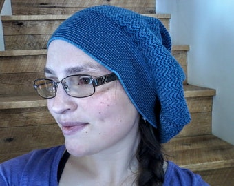 Blue Slouchy Sweater Hat