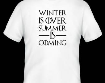 Game of Thrones T-shirt/ winter is coming, funny t-shirt