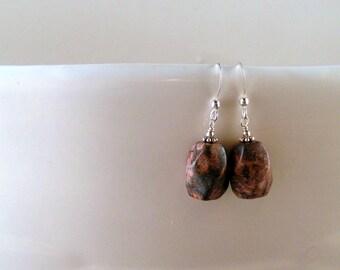 SALE - Rhodonite Earrings