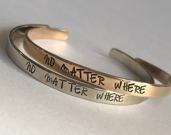 One -Going Away Gift For Friend Best Friend Long Distance Bestfriend Long Distance Friendship Bracelet No Matter Where Bracelet Goodbye Gift