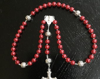Red Pearlized Holy Spirit Rosary