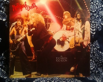 New York Dolls Too Much Too Soon Vinyl Record Original Pressing on Mercury 1974 VG+ Condition