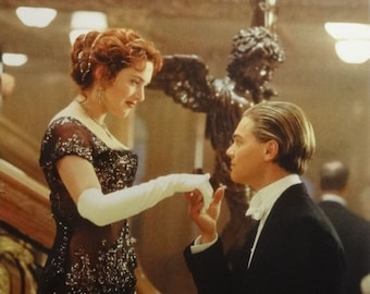 Titanic 23x35 Stairway Kiss Movie Poster Leonardo DiCaprio